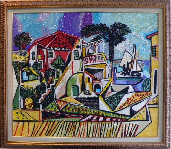 ピカソ地中海風景