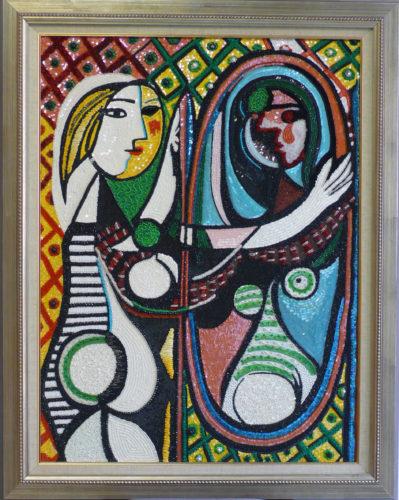 ピカソ鏡の女